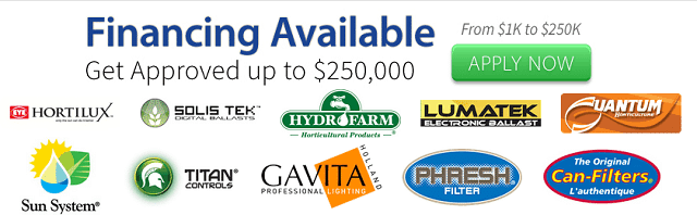 Apply Now for Hydroponic Growing Financing